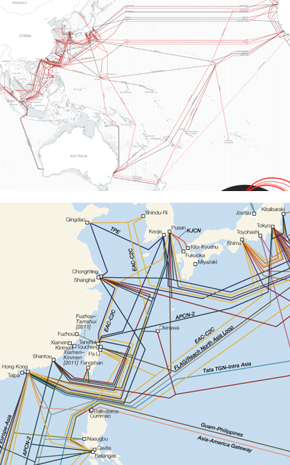 Wiring East Asia Increased Fiber Optic Links Over The Years Maps - Us fiber optic map