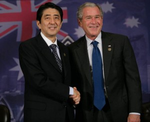 Shinzo Abe and George W. Bush in 2007. We were all younger then.