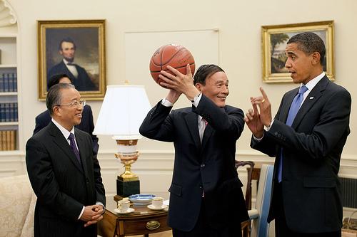 Wang Qishan, Dai Bingguo, and Barack Obama